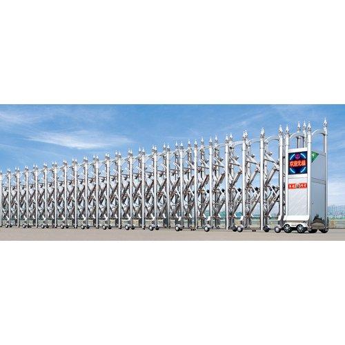 Cổng xếp inox tự động Model HM-04