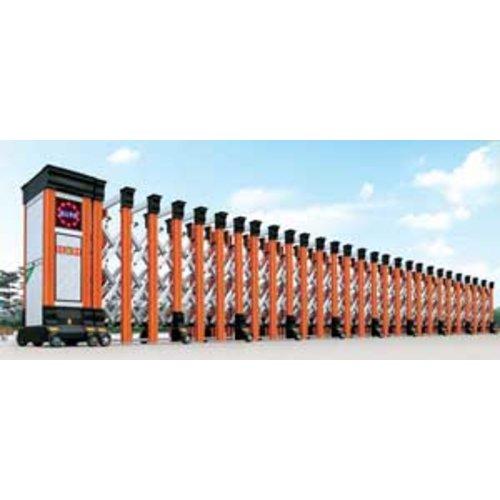 Cổng xếp tự động hợp kim nhôm HMN-02