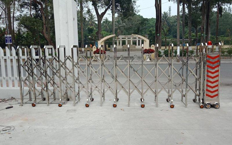 Cung cấp Cổng xếp inox Model HMV-01 cho Nhà Văn Hóa Tỉnh Bắc Ninh
